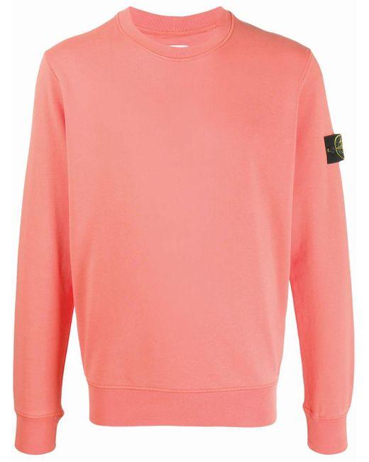 メンズ Stone Island ロゴパッチ セーター Pink
