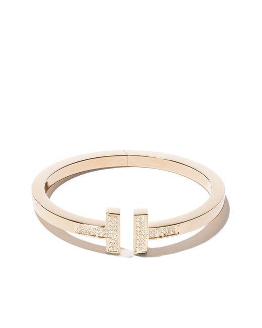 Tiffany & Co - Metallic 18kt Yellow Gold Tiffany T Square Diamond Cuff - Lyst