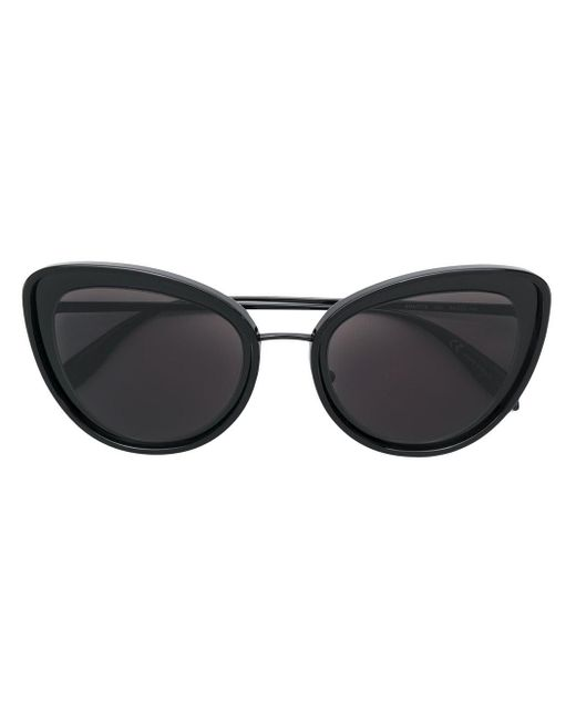 Alexander McQueen Black Cat-Eye-Sonnenbrille
