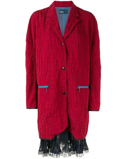 Kolor オーバーサイズ コート Red