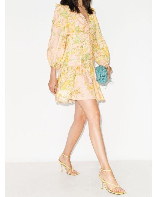 Zimmermann Amelie フローラル ドレス Yellow