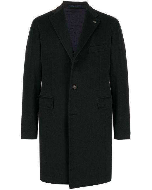 メンズ Tagliatore テーラード シングルコート Blue