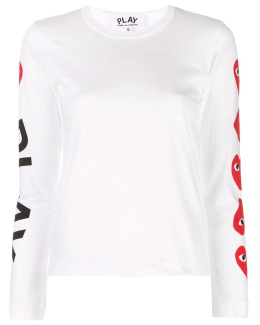 COMME DES GARÇONS PLAY ロゴ スウェットシャツ White