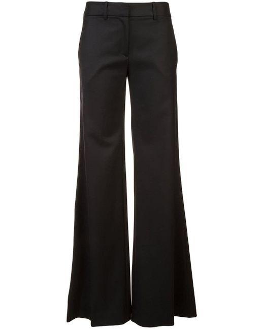 Nili Lotan Flared Trousers Black