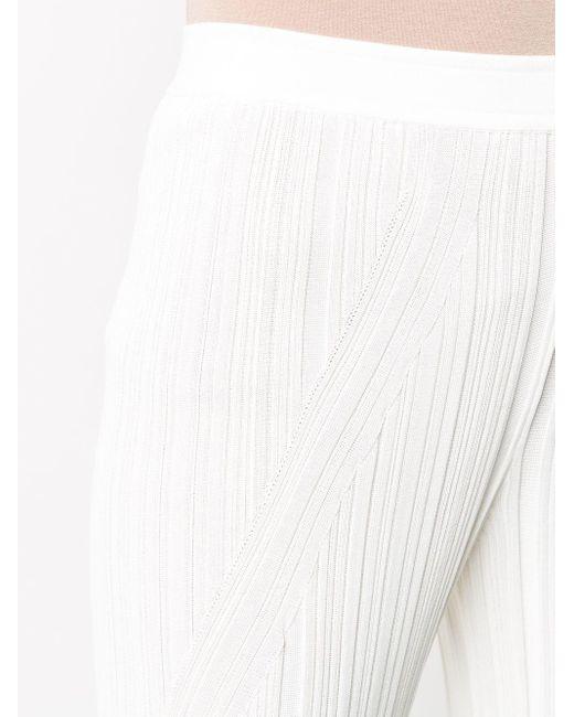 Gentry Portofino プリーツ ハイウエストパンツ White