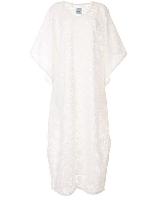 Кружевное Платье Макси Bambah, цвет: White