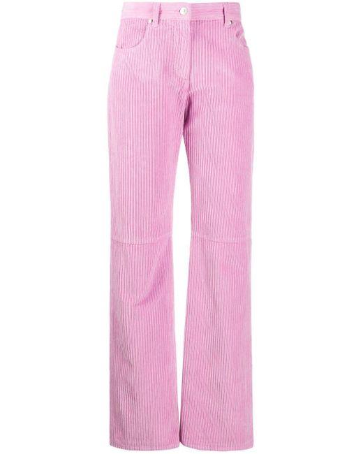Jeans dritti con vita media di MSGM in Pink
