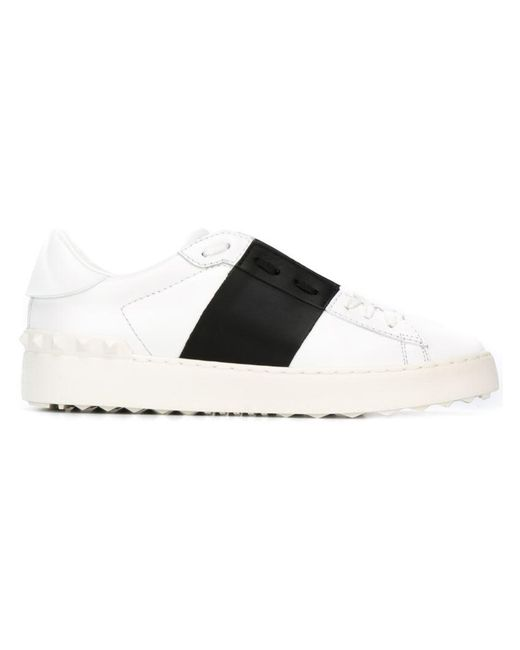 Valentino - Brown Open Leather Sneakers - Lyst