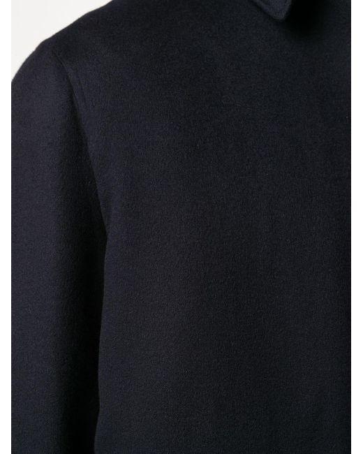 Кашемировая Куртка-рубашка С Длинными Рукавами Loro Piana для него, цвет: Blue