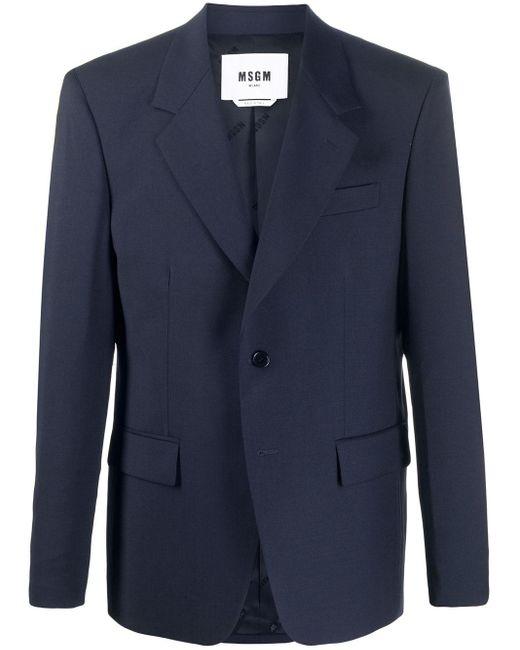 メンズ MSGM フォーマル ジャケット Blue