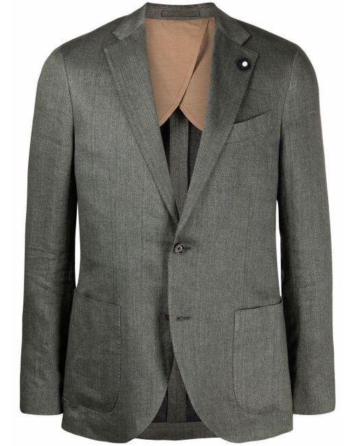 メンズ Lardini テーラード シングルジャケット Gray