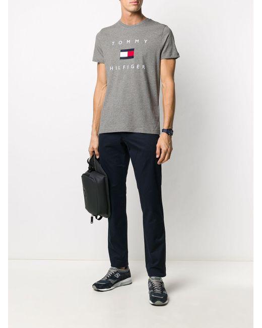 メンズ Tommy Hilfiger クルーネック Tシャツ Gray