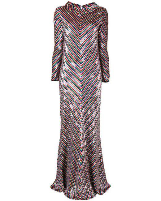 Ashish - Multicolor Chevron Sequinned Dress - Lyst