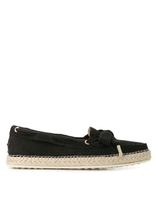 Tod's Espadrille Loafers in het Black