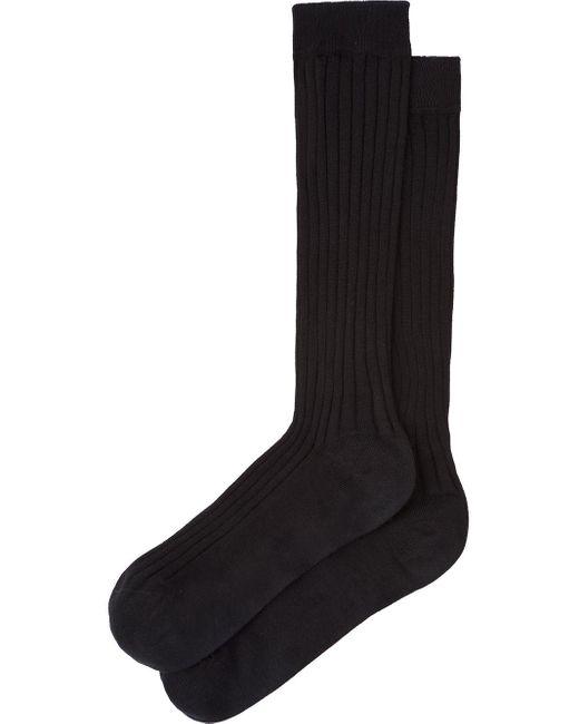 Miu Miu リブニット 靴下 Black