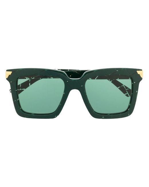 Bottega Veneta Bv1005s スクエアフレーム サングラス Green