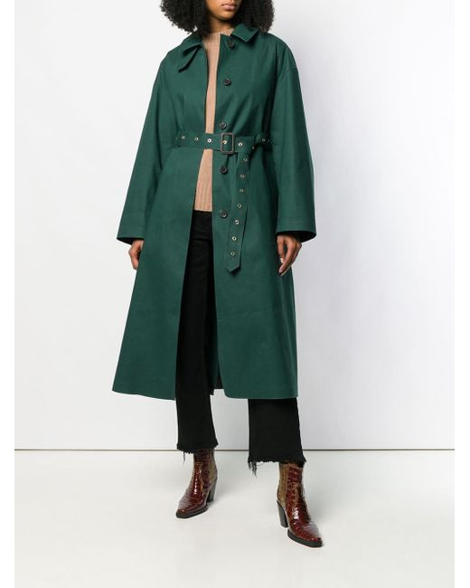 Trench Rosewell di Mackintosh in Green