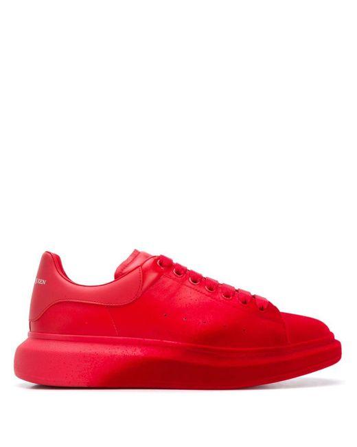 メンズ Alexander McQueen オーバーサイズ スニーカー Red