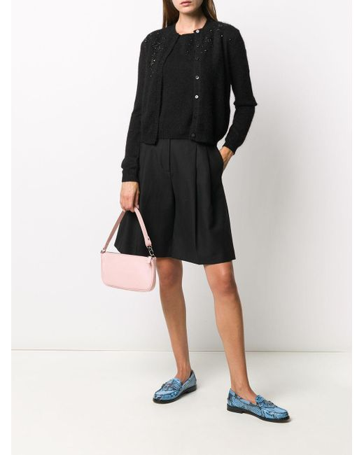 Twin Set Black Bead-embellished Cardigan Set