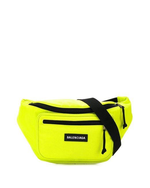 メンズ Balenciaga エクスプローラー ベルトバッグ Yellow