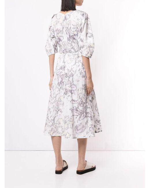 3.1 Phillip Lim パフスリーブ ドレス Multicolor