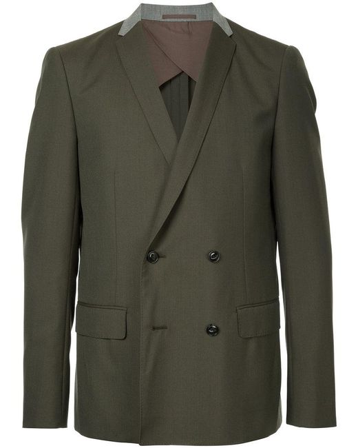 Kolor - Green Double Breasted Blazer for Men - Lyst