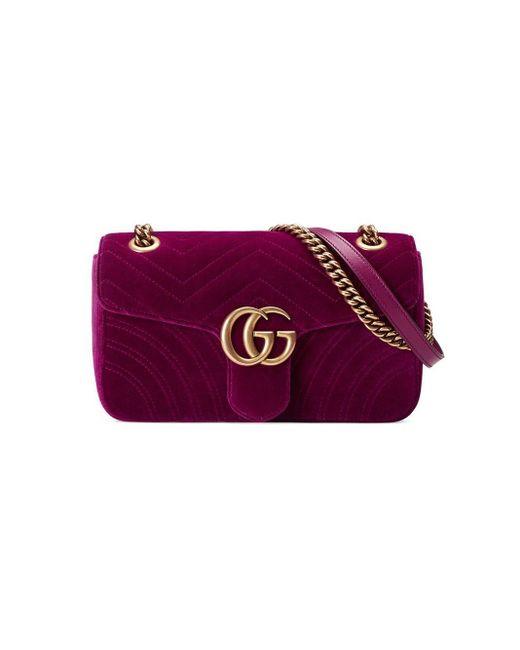 Gucci GGマーモント ショルダーバッグ Purple