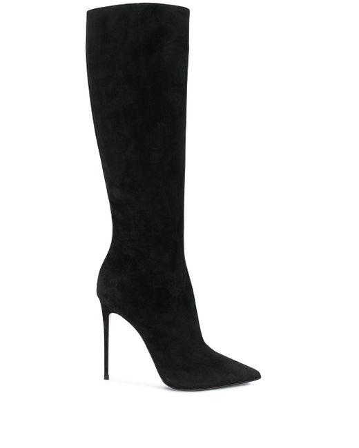 Le Silla Black Eva Knee-length Suede Boots