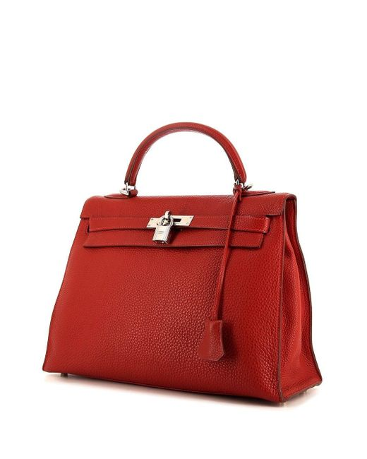 Hermès プレオウンド ケリー 32 ハンドバッグ Red