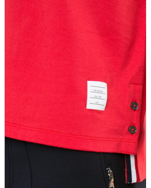 Thom Browne Red Chest Pocket T-shirt for men