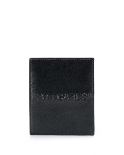 Off-White c/o Virgil Abloh スローガン カードケース Black