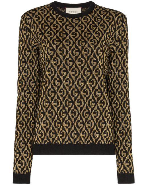 Gucci Gランバス ラメ セーター Multicolor