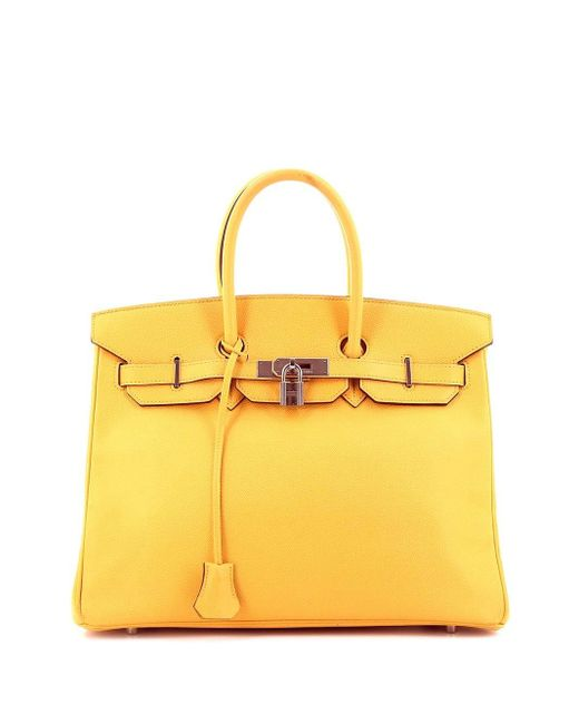 Hermès プレオウンド バーキン 35 ハンドバッグ Yellow