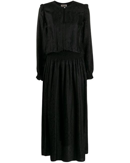 Robe à effet peau de serpent Zadig & Voltaire en coloris Black