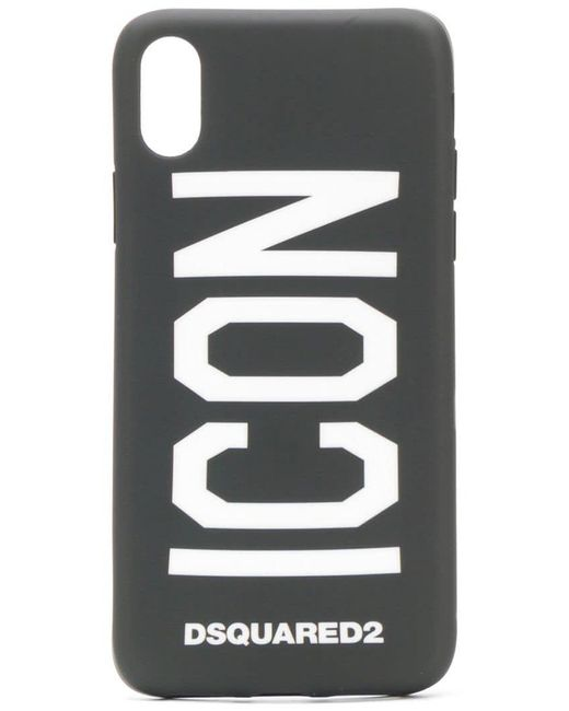 DSquared² - Black Coque d'iPhone X Icon for Men - Lyst