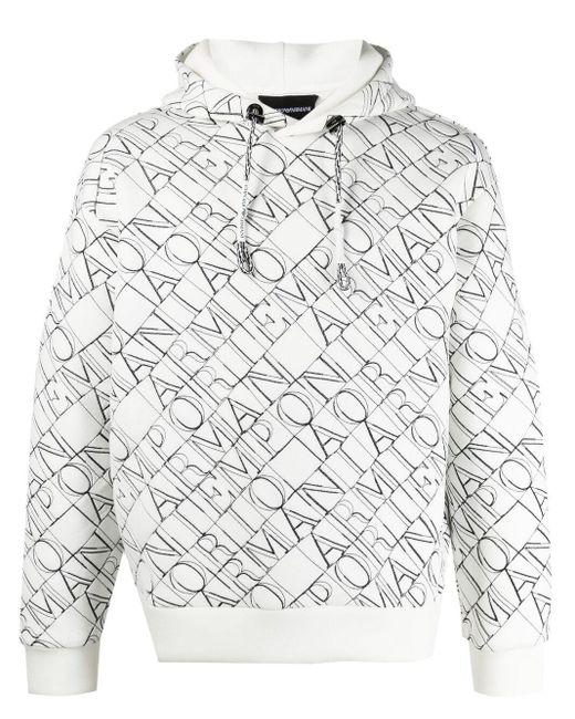 メンズ Emporio Armani ロゴ パーカー White