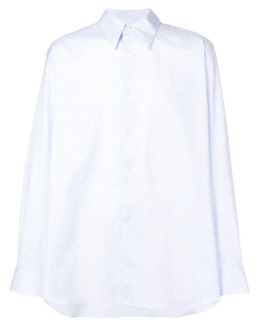 メンズ Raf Simons クリアポケット シャツ White