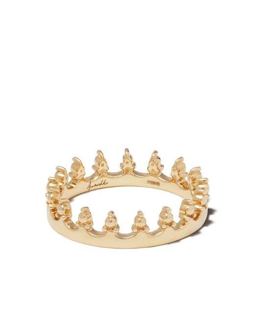 Annoushka Crown リング 18kイエローゴールド Metallic