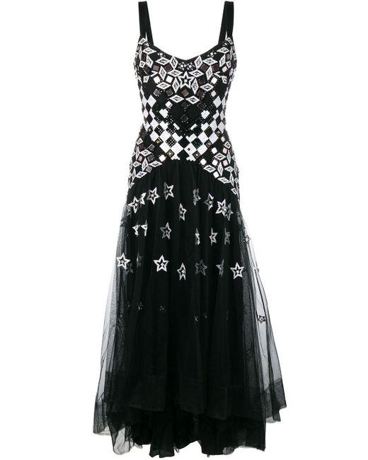 Temperley London Splendour ストラップ ドレス Black