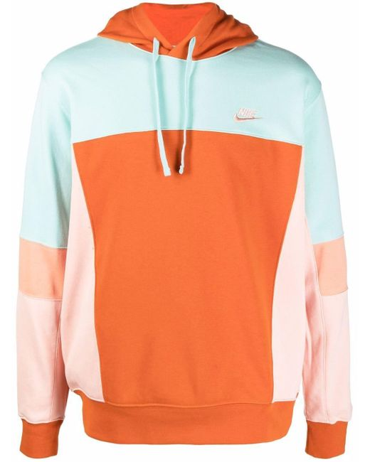 Nike Kapuzenpullover aus Frottee in Orange für Herren
