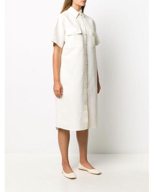 Jil Sander オーバーサイズ シャツドレス White