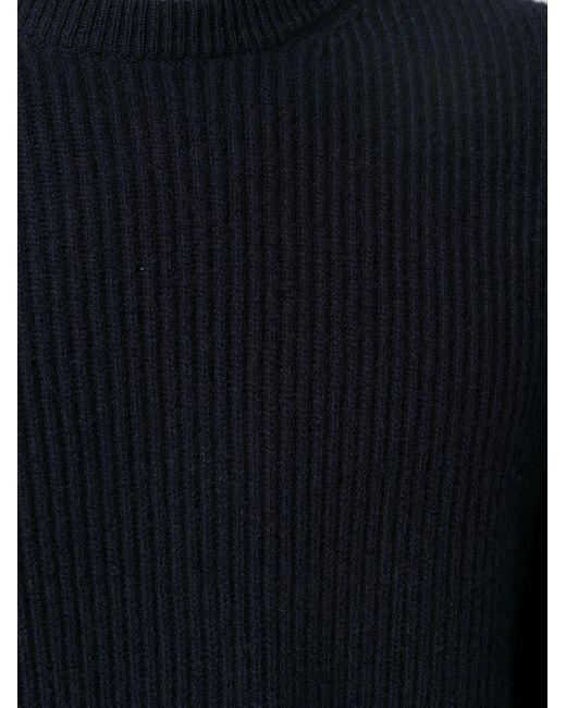 メンズ Eleventy リブニット カシミアセーター Blue