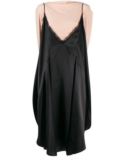 MM6 by Maison Martin Margiela バイカラー ドレス Black