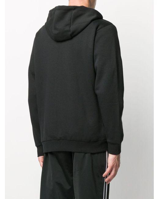 メンズ Adidas ジップアップ パーカー Black