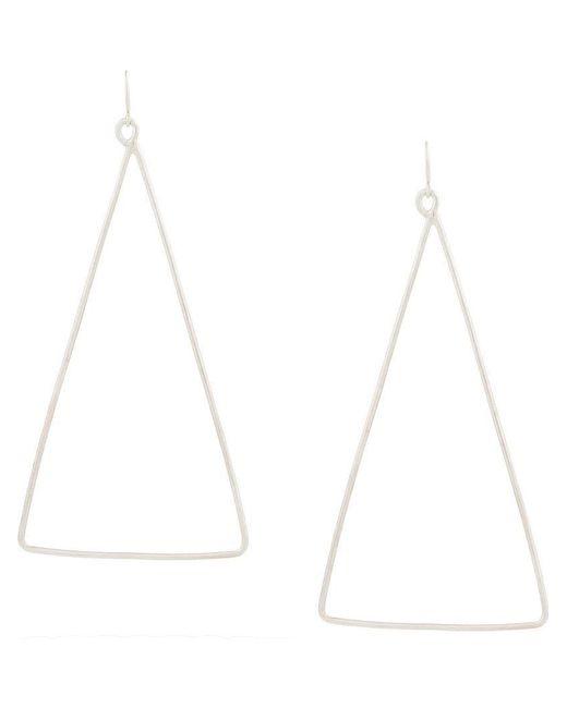 Petite Grand - Metallic Triangular Earrings - Lyst