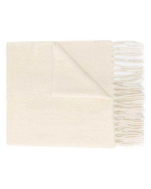 Écharpe longue à bords francs Brunello Cucinelli en coloris White