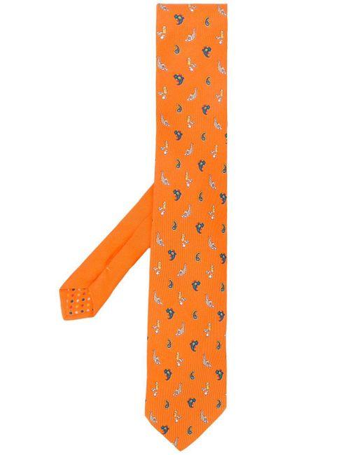 メンズ Etro ペイズリー ネクタイ Orange