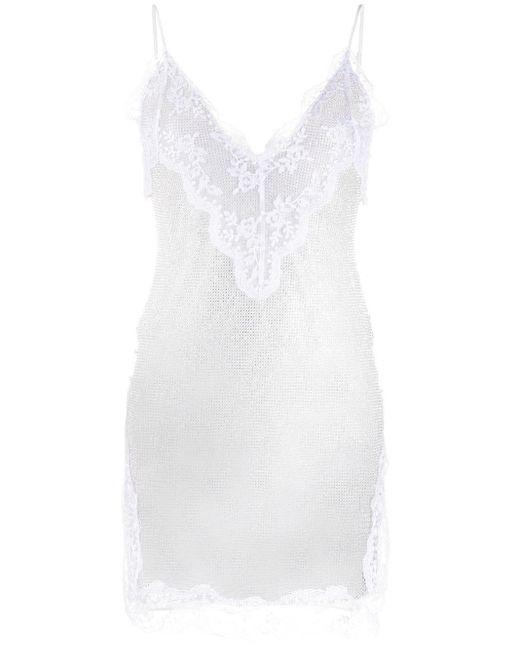 Christopher Kane メッシュ スリップドレス White