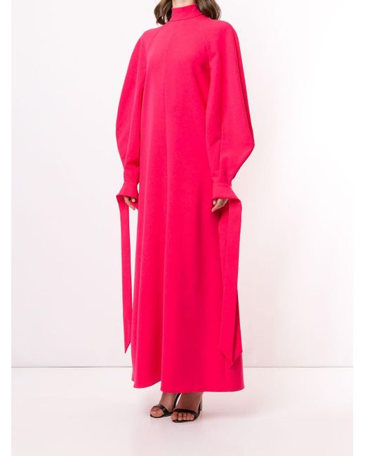 Carolina Herrera パフスリーブ ドレス Pink