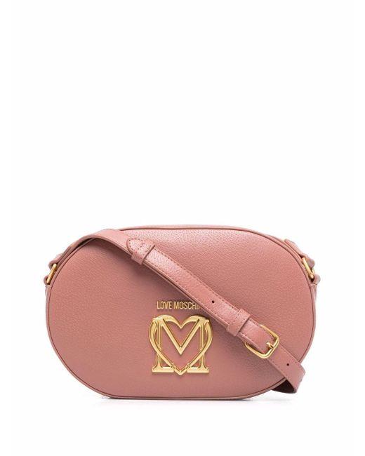 Love Moschino ロゴプレート ショルダーバッグ Pink